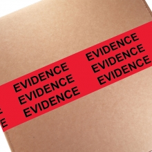 "3"" Evidence Sealing Tape - Red/Black"