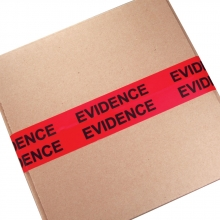 "2"" Evidence Sealing Tape - Red/Black"