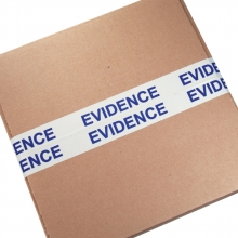 "2"" Evidence Sealing Tape - White/Blue"