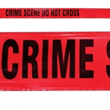 Red Crime Scene Do Not Cross Barrier Tape