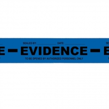 Blue Evidence-PRO Security Tape - Solid-Back