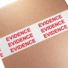 "3"" Evidence Sealing Tape - White/Red"