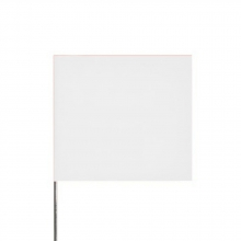 100 - Blank White Metal Flags