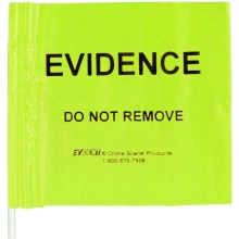 100 - EVIDENCE Yellow Plastic Flags