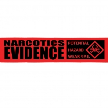 Red Evidence-PRO Narcotics Security Tape - 24 pack