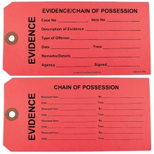 100 - Red Evidence Tags