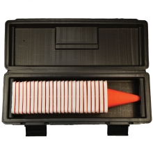 Photo Marker Cones - 25 Blank w/ Case