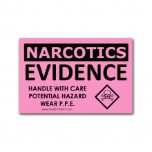 "250 - 2"" x 3"" Narcotics Evidence Labels"
