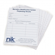 Nik Narcotics Field Test Report Pad